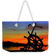 Sunrise Over The Captain's Wheel Weekender Tote Bag