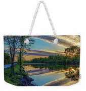 Sunrise Over The Champlain Canal Weekender Tote Bag