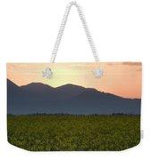 Sunrise Over The Kamnik Alps And Rapeseed Weekender Tote Bag