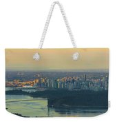 Sunrise Over Vancouver Bc And Stanley Park Panorama Weekender Tote Bag
