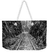 Sunrise Rails Black And White Vertical Panorama Weekender Tote Bag