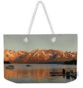 Sunrise Reflections On Colter Bay Weekender Tote Bag