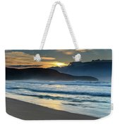 Sunrise Seascape With Headland And Clouds Weekender Tote Bag