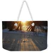 Sunrise Shadows On Ice Weekender Tote Bag