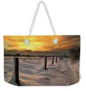 Sunrise Snow Fields Weekender Tote Bag