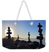 Sunrise Stacks Weekender Tote Bag