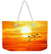 Sunrise / Sunset / Sandhill Cranes Weekender Tote Bag