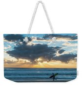 Sunrise Surfer Running Delray Beach Florida Weekender Tote Bag