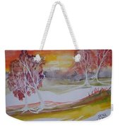Sunrise Surreal Modern Landscape Painting Fine Art Poster Print Weekender Tote Bag