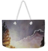 Sunrise Through The Pines Weekender Tote Bag by Diane Kraudelt
