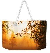 Sunrise Trees Fog Weekender Tote Bag