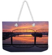 Sunrise Walnut Street Bridge 2 Weekender Tote Bag by Tom and Pat Cory