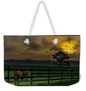 Sunrise With Horses Weekender Tote Bag