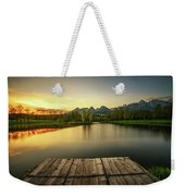 Sunset Above A Lake In High Tatra Mountains In Slovakia Weekender Tote Bag