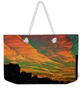 Sunset Above City After A Thunder-storm Weekender Tote Bag