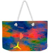 Sunset Abstract With Windmill Weekender Tote Bag