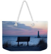 Sunset And Bench Weekender Tote Bag