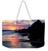 Sunset And Clouds Over Crescent Beach Weekender Tote Bag