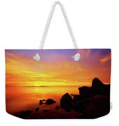 Sunset And Fire Weekender Tote Bag