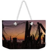 Sunset And Fishing Net Cape May New Jersey Weekender Tote Bag