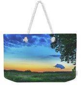 Sunset And Flowers Weekender Tote Bag