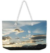 Sunset And Iridescent Cloud Weekender Tote Bag