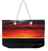 Sunset And Jetty Weekender Tote Bag by William Selander