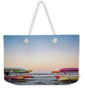 Sunset And Kayaks Weekender Tote Bag