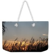 Sunset And Palm Grass Weekender Tote Bag