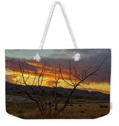 Sunset And Petrified Tree Weekender Tote Bag
