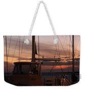Sunset And Sailboat Weekender Tote Bag