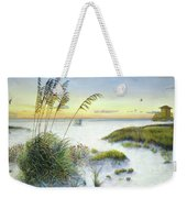Sunset And Sea Oats At Siesta Key Public Beach Weekender Tote Bag