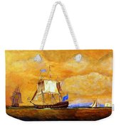Sunset And Ships Weekender Tote Bag