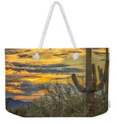 Sunset Approaches - Arizona Sonoran Desert Weekender Tote Bag