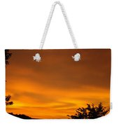 Sunset Art Prints Orange Glowing Western Sunset Baslee Troutman Weekender Tote Bag