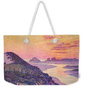 Sunset At Ambleteuse Pas-de-calais Weekender Tote Bag by Theo van Rysselberghe