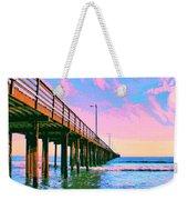 Sunset At Avila Beach Pier Weekender Tote Bag