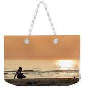 Sunset At Beach Weekender Tote Bag