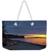 Sunset At Birch Bay State Park Weekender Tote Bag
