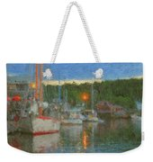Sunset At Boothbay Harbor Maine Weekender Tote Bag