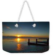 Sunset At Brackesham Bay ,west Sussex ,england  Weekender Tote Bag