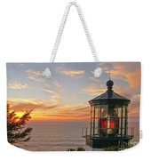 Sunset At Cape Meares Weekender Tote Bag