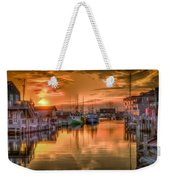 Sunset At Fisherman's Cove Weekender Tote Bag