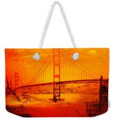 Sunset At Golden Gate Weekender Tote Bag