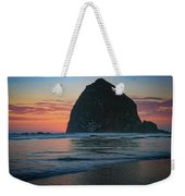 Sunset At Haystack Rock Weekender Tote Bag