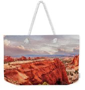 Sunset At Kodachrome Basin State Park Panorama Weekender Tote Bag