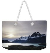 Sunset At Lago Pehoe  In The Cuenos Del Weekender Tote Bag
