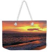 Sunset At Lahaina On Maui, Hawaii Weekender Tote Bag