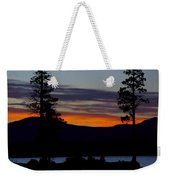 Sunset At Lake Almanor Weekender Tote Bag