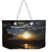 Sunset At Multnomah Falls Weekender Tote Bag